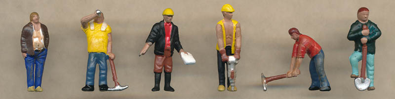 Bachmann Construction Workers figures