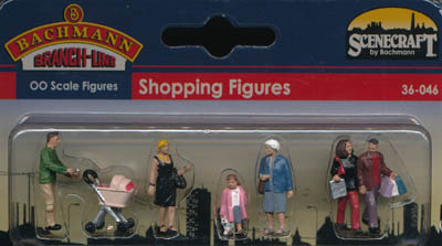 Bachmann Shopping Figures box
