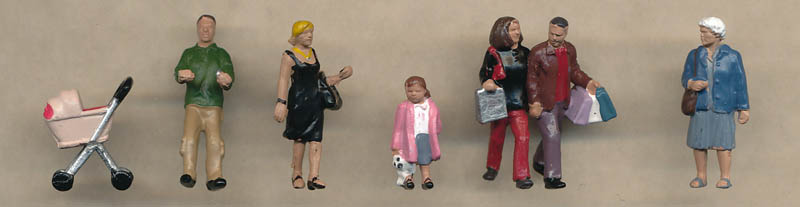 Bachmann Shopping Figures figures
