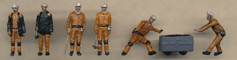 Bachmann 1960/70s Coal Miners figures