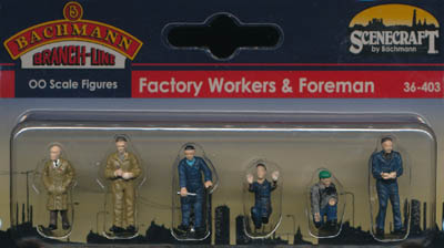 Bachmann Factory Workers & Foreman box