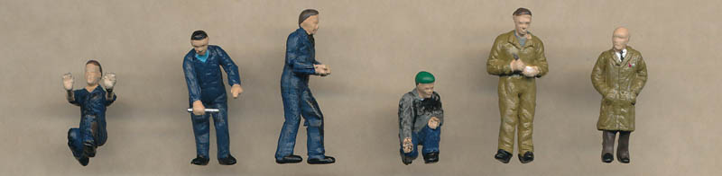 Bachmann Factory Workers & Foreman figures