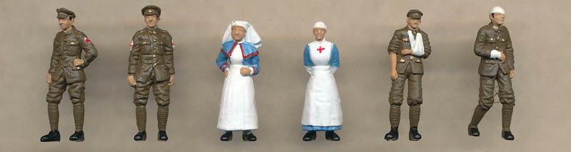 Bachmann WW1 Medical Staff and Soldiers figures