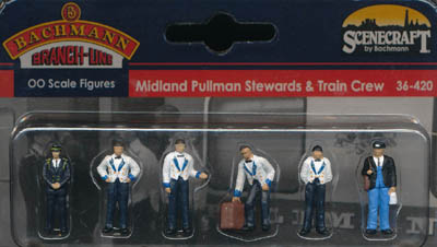 Bachmann Midland Pullman Stewards and Train Crew box